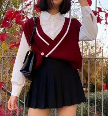 Юбка - шорты в корейском стиле подклад шорты качественные тканевые