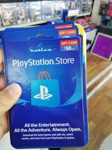 PlayStation store gift kartlar Amerika Akkauntu üçün 50 dollar