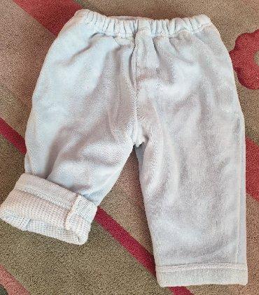 Guess-jeans-karirane-pamuk - Srbija: Debele zimske pantalone za decake bebe, plave, karirane iznutra