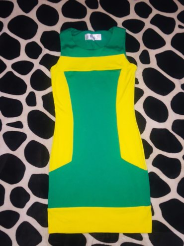 юбка в паетках в Кыргызстан: Платья и юбка, размер S. Зелено-желтое и леопардовое 200 сом, юбка(на