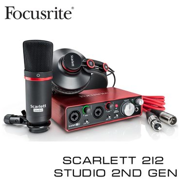 Звуковая карта:Focusrite Scarlett 2i2 Studio (2nd Gen) - USB 2.0