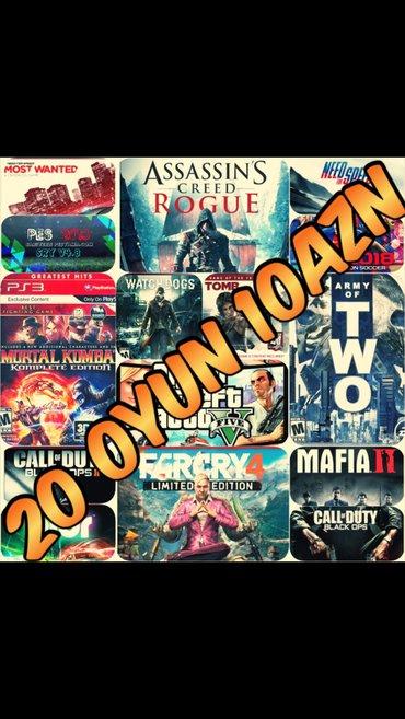 Bakı şəhərində Playstation 3 en yeni esas oyunlarin yazilmasi... 20 oyun 10azn... Oyu