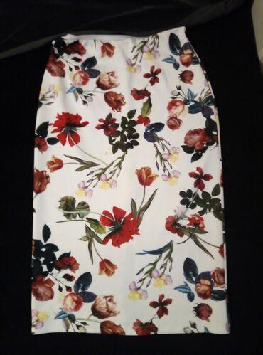 Nova suknja dublji struk do kolena pozadi slic, veličina univerzalna