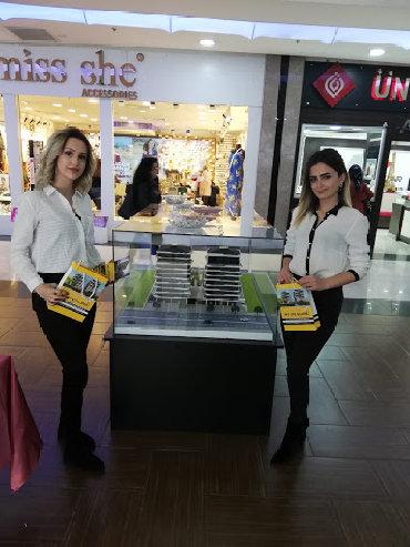 Brend gümüş -saat mağazaları şəbəkəsinə satıcı xanım və bəylər