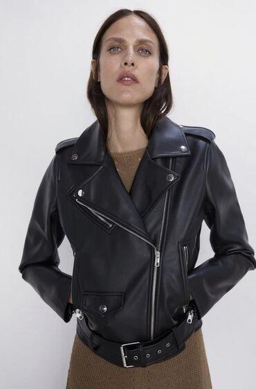 Шифер бу - Кыргызстан: Кожаная куртка Зара. БУ, размер XS   Состояние хорошее, есть потёртост