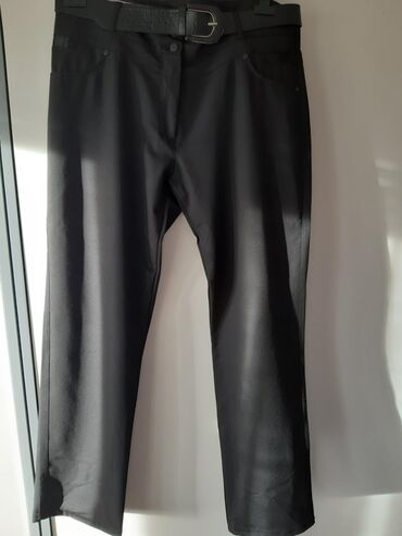 Zenske pantalone broj - Srbija: Nove zenske crne pantalone sa kajisem Broj 48
