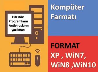 Bakı şəhərində Komputerlerin evinizde ve ofislerinizde format olunmasi windows xp