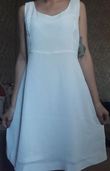 диски для плейстейшен 4 в Кыргызстан: Белое легкое летнее платье с подкладкой. Сделано в Корее, новое