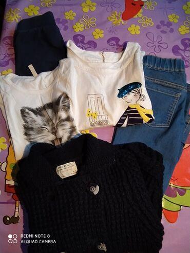 Zara jakna - Srbija: Zara džemper jakna 122 ili 6-7god,bennetton džins 6-7 pantalone