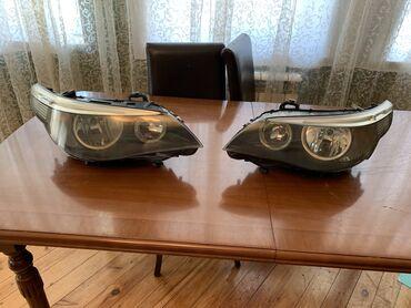 faralar - Azərbaycan: BMW E60 sade orginal faralar cati ve cizigi yoxdur hec vaxt acilmayib