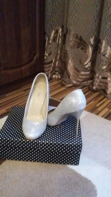 шикарные туфли размер 39 покупали в турции одели один раз. серый с бле в Бишкек