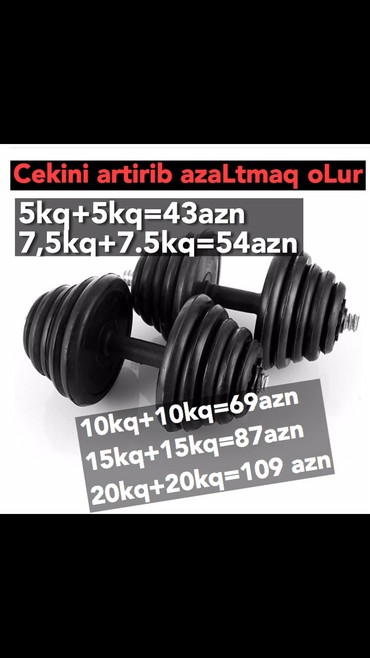 qantel satışı - Azərbaycan: Qantel cekini artirib azaltmaq olur. Depodan satisdi
