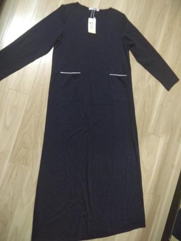 женская платья размер 46 48 в Кыргызстан: Продаю женское новое длинное платье тонкий трикотаж размер подойдет