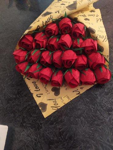 свадебные аксессуары ручной работы в Кыргызстан: Продам розы ручная работа