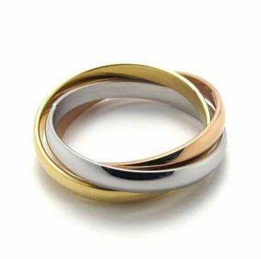 Кольцо тринити из трёх цветов золота в Бишкек