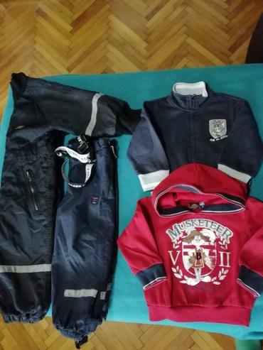 Decije ski pantalone - Vrnjacka Banja: Paket garderobe za decake vel. 2,skafander, ski pantalone sa tregerima