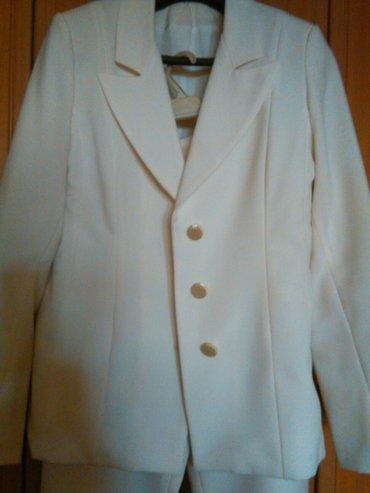 Nov belo krem, elegantan, komplet sako i pantalone, modernog stila, od - Beograd