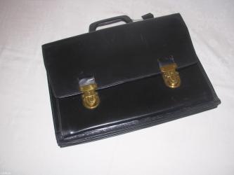 Poslovna tasna aktovka odprirodne koze , crne boje , dim. Sir 41 x vis - Belgrade