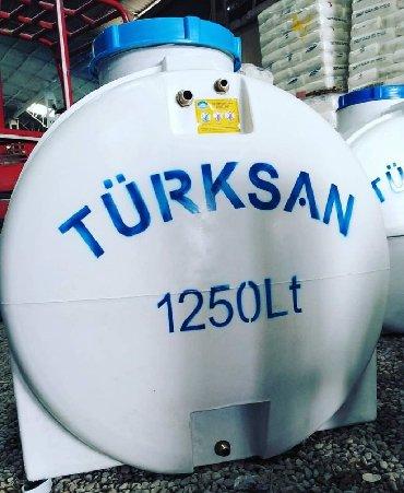 Türksan şirkətinin polietilendən hazırlanmış su çəni. Oval formalı