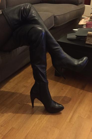 Zara high knee length high heels black leather boots . New , never σε Βόρεια & Ανατολικά Προάστια - εικόνες 7