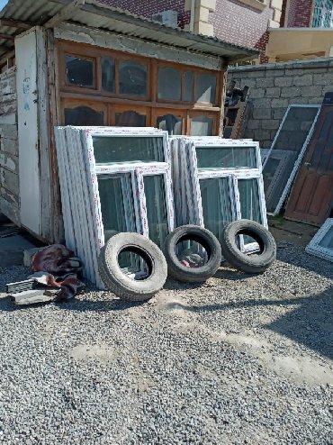 Pəncərələr - Azərbaycan: Teze plastiq qapi pencereler fortocqAlar Bine qesebe sovxoz kafe 500