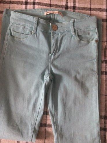 Скини-джинсы,бирюзового цвета .Размер s в Бишкек