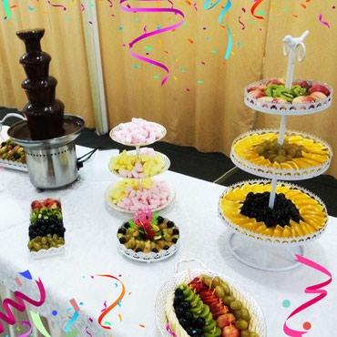 шоколадный фонтан в Кыргызстан: Шоколадный ФОНТАН + фруктовые нарезки! На свадьбу, детские праздники