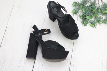 женские босоножки на широкую ногу в Азербайджан: Женские босоножки замшевые TOPSHOP Бренд: TOPSHOP Цвет: черный Высота