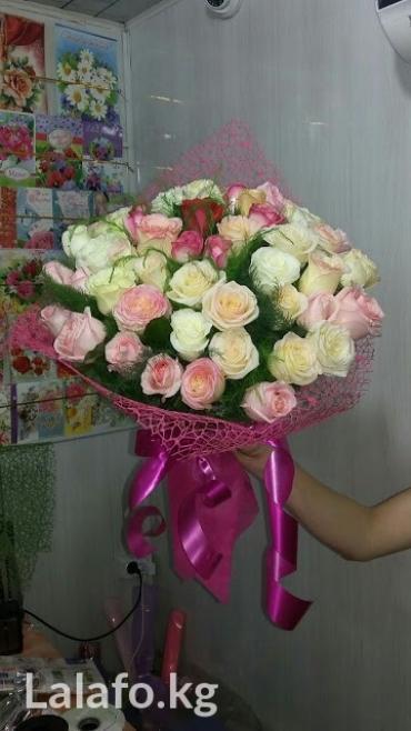 Большие букеты из роз 101 шт от 2700сом за в Бишкек