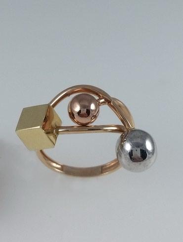 Кольцо эксклюзивное из золота 585 проба Размер: 17.5 Цена: 8700 в Бишкек