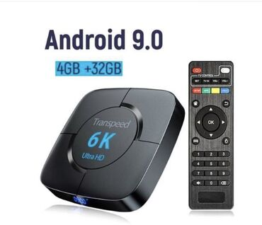 Android tv box model:Transpeed 6kAndroid 9.0Ram:4 gbRom:32 gb