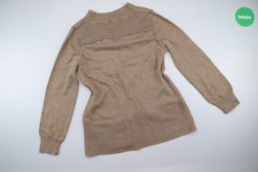 Жіночий светр з чорно-білими вкрапленнями Cappuccini, p. L    Довжина