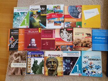 9285 oglasa: Prodajem sledeće polovne udžbenike za 1.godinu srednje škole u
