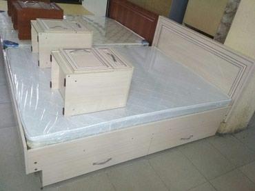 Двух спальный кровать 1.5*2 Росс ламинат в Бишкек