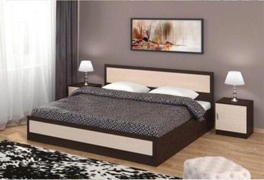 Кровать с мягким серым изголовьем и в Бишкек
