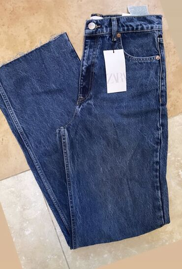 краскопульт в бишкеке в Кыргызстан: Трендовые джинсы 🔥Зара в наличии в Бишкеке. Высокая посадка. Размер: М