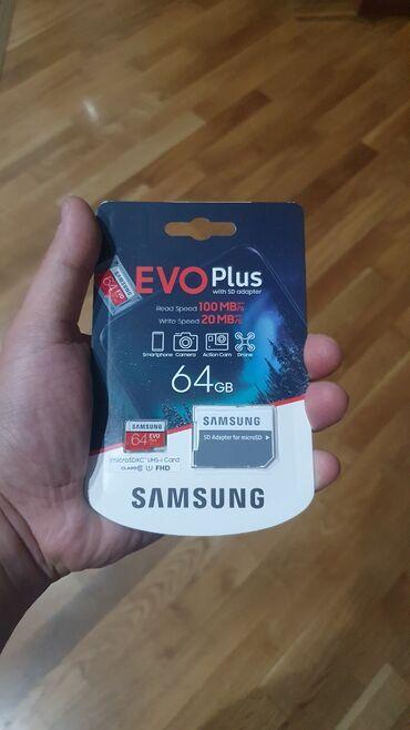 Samsung Evo Plus Yaddaş Kartı 64 GB Klass10 - 28 Azn İstehsalçı: Samsu