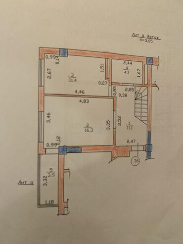 жеке менчик в Кыргызстан: Индивидуалка, 3 комнаты, 95 кв. м Лифт, Не затапливалась, Не сдавалась квартирантам