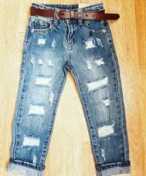 Новые! стильные джинсы с ремешком. на 11-12 и 13-14 лет в Бишкек