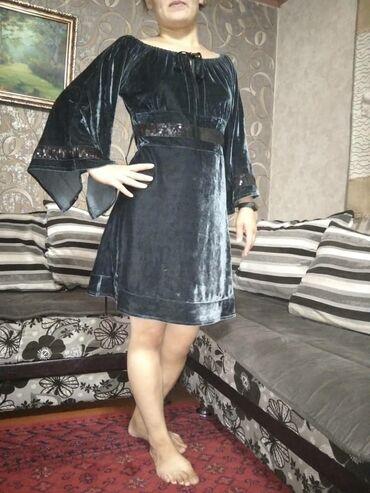 Личные вещи - Ош: Велюровое вечернее платье ношенное один раз
