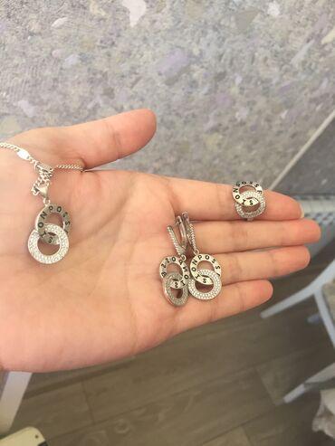 sl 925 кольцо в Кыргызстан: Серебро! Два Комплекта. Кольцо сваровски.Серьги.Гвозди.Все в одни