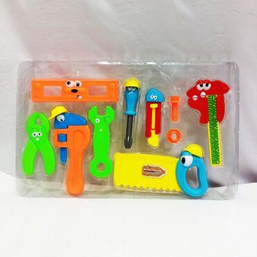 Детский набор инструментов - классный сет с забавным лицами для
