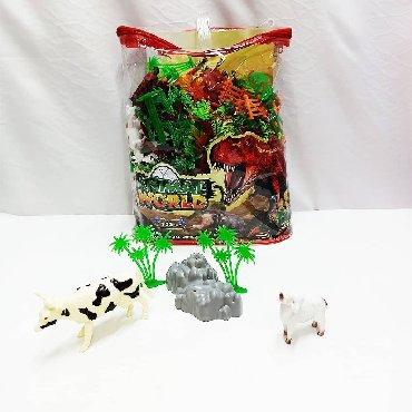 колба для кофеварки мистери в Кыргызстан: Огромный набор резиновых игрушек - домашние животные с пластиковыми