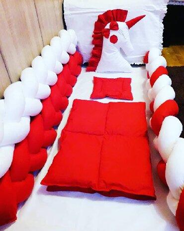 Pleteni prslici - Srbija: Ogradica za krevetac od pletenica,100%pamuk