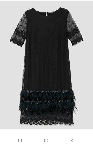 Haljine - Sremska Kamenica: Nova haljina p. s fashion.Midi duzina Perije i cipka na kraju