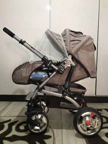 КОМБИНИРОВАННАЯ коляска на амортизаторах - подходит детям с рождения ;
