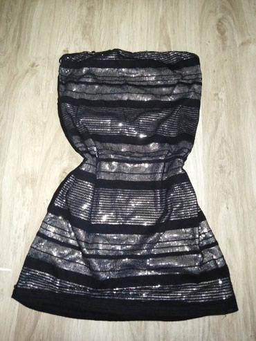 Crni top - Srbija: AKCIJA!! Crna top haljina sa srebrnim štrasom