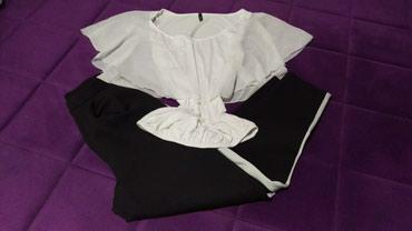 Pojeacno-ara-zajedno - Srbija: Pantalone sa elastinom H&M, i majica, velicina S. Zajedno 800 din