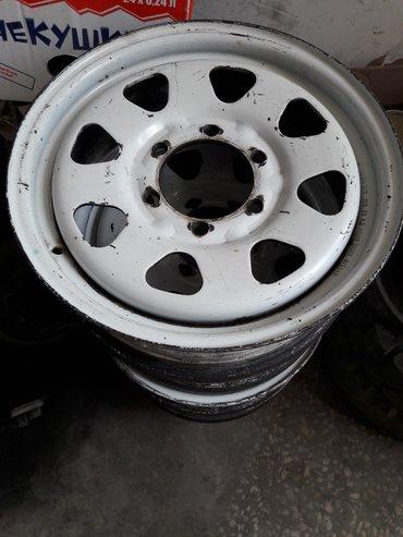 Железные диски комплект на джип r16х6j  (Ниссан Патруль, Тойота и Митц в Бишкек