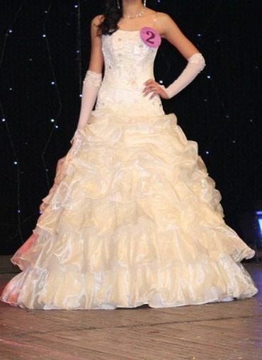Очень срочно Свадебное платье за 1000 сом, 42-44-46 размер в Бишкек